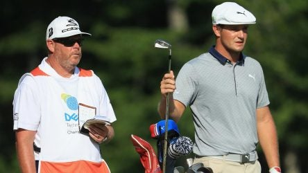 Bryson DeChambeau's golf clubs at the Dell Technologies Championship pictured on Monday