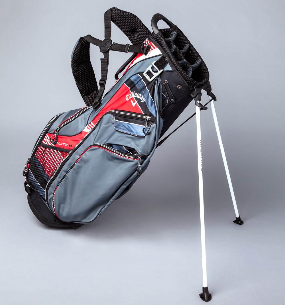 The Callaway Hyper Lite golf bag.