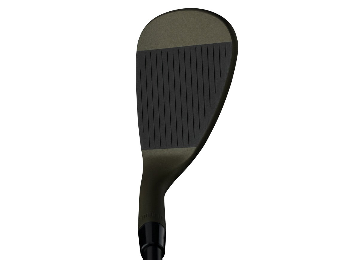 A look at a Callaway MD4 Tactical wedge in playing position.