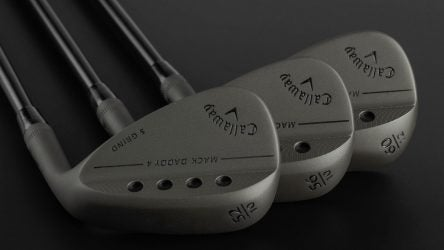 The new Callaway MD4 Tactical wedges.