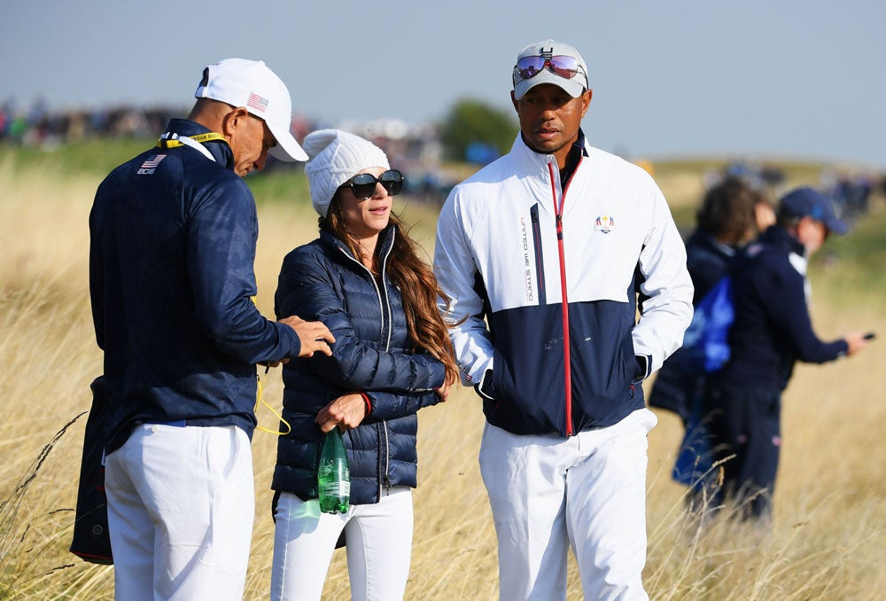 tiger woods u0026 39  girlfriend erica herman roots for team usa at
