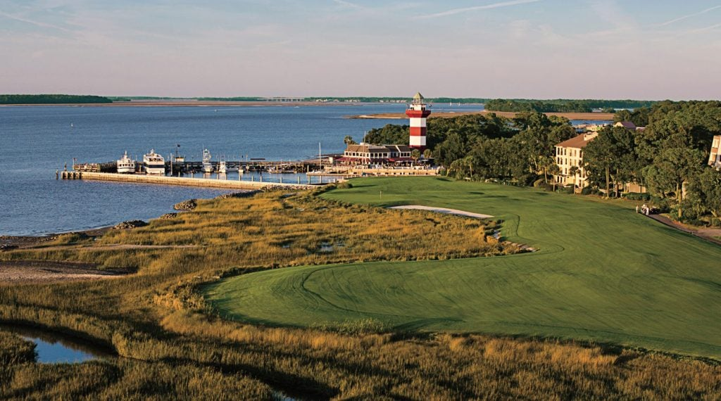 The 18th hole at Harbour Town Golf Links is as scenic as it gets.