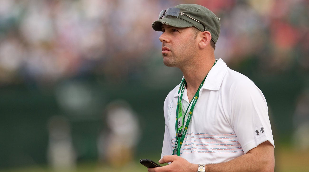 Golf writer Jason Sobel was caddie for Brendan Steele Monday at the BMW Championship.