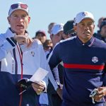 Jim Furyk and Tiger Woods at the 2018 Ryder Cup