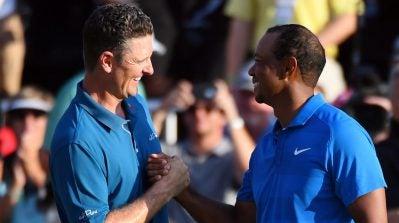 Justin Rose narrowly edges Tiger Woods for FedEx Cup title, $10 million bonus