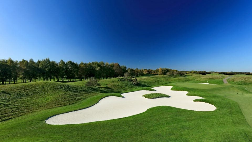 14th hole at Le Golf National's Albatross course, Ryder Cup 2018