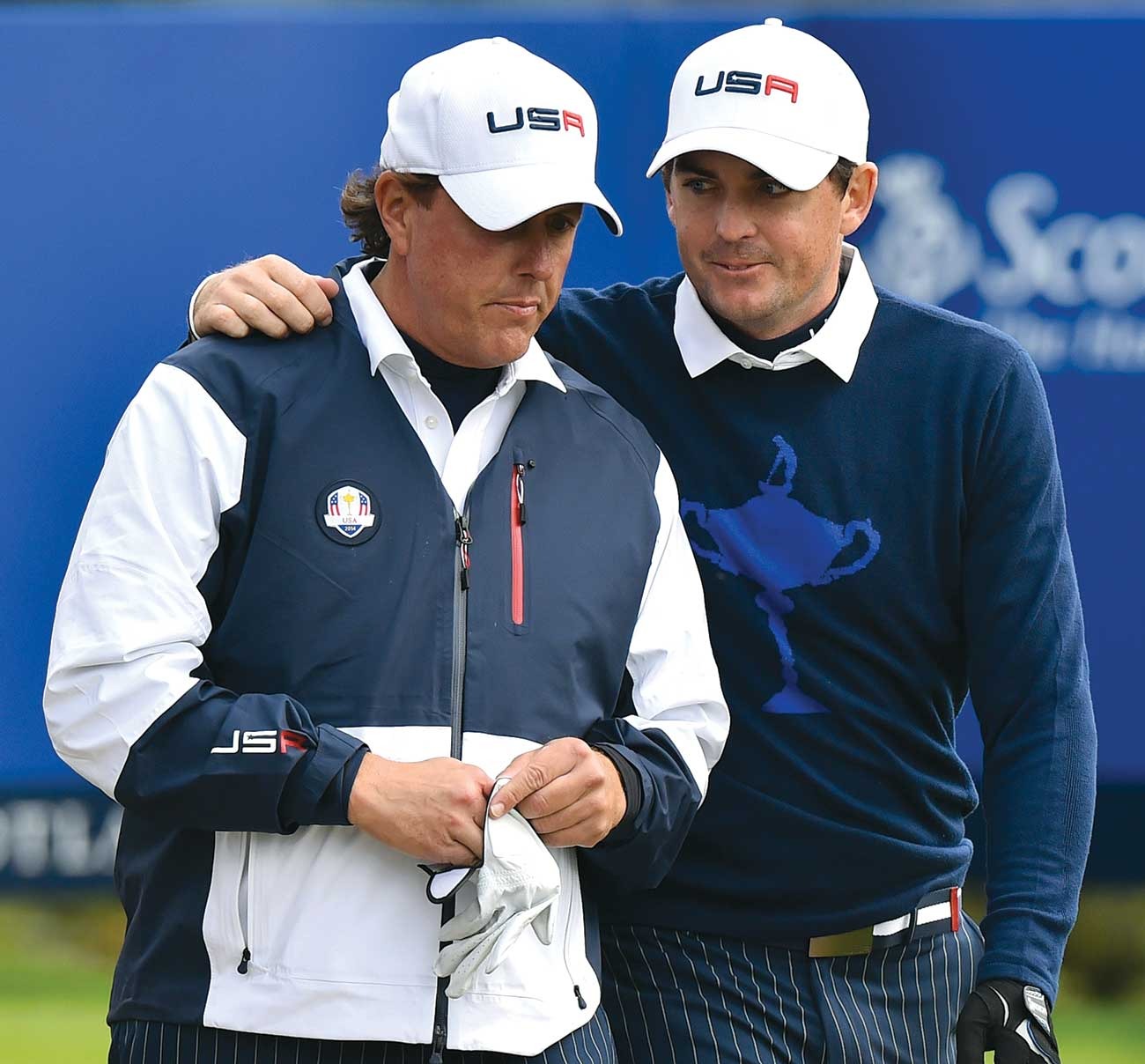 Phil Mickelson and Keegan Bradley were benched after a 1-1 Friday.