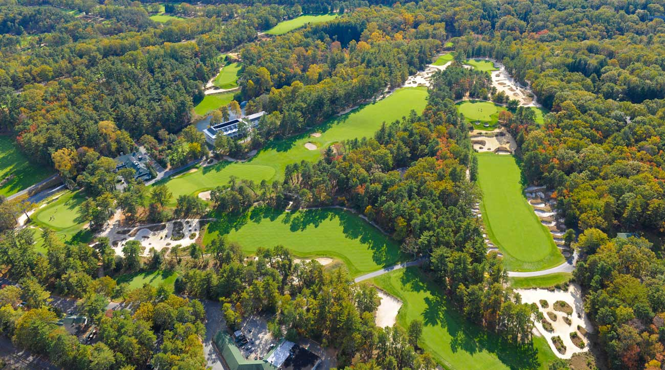 A view of Pine Valley, home of the Crump Cup, from the air.