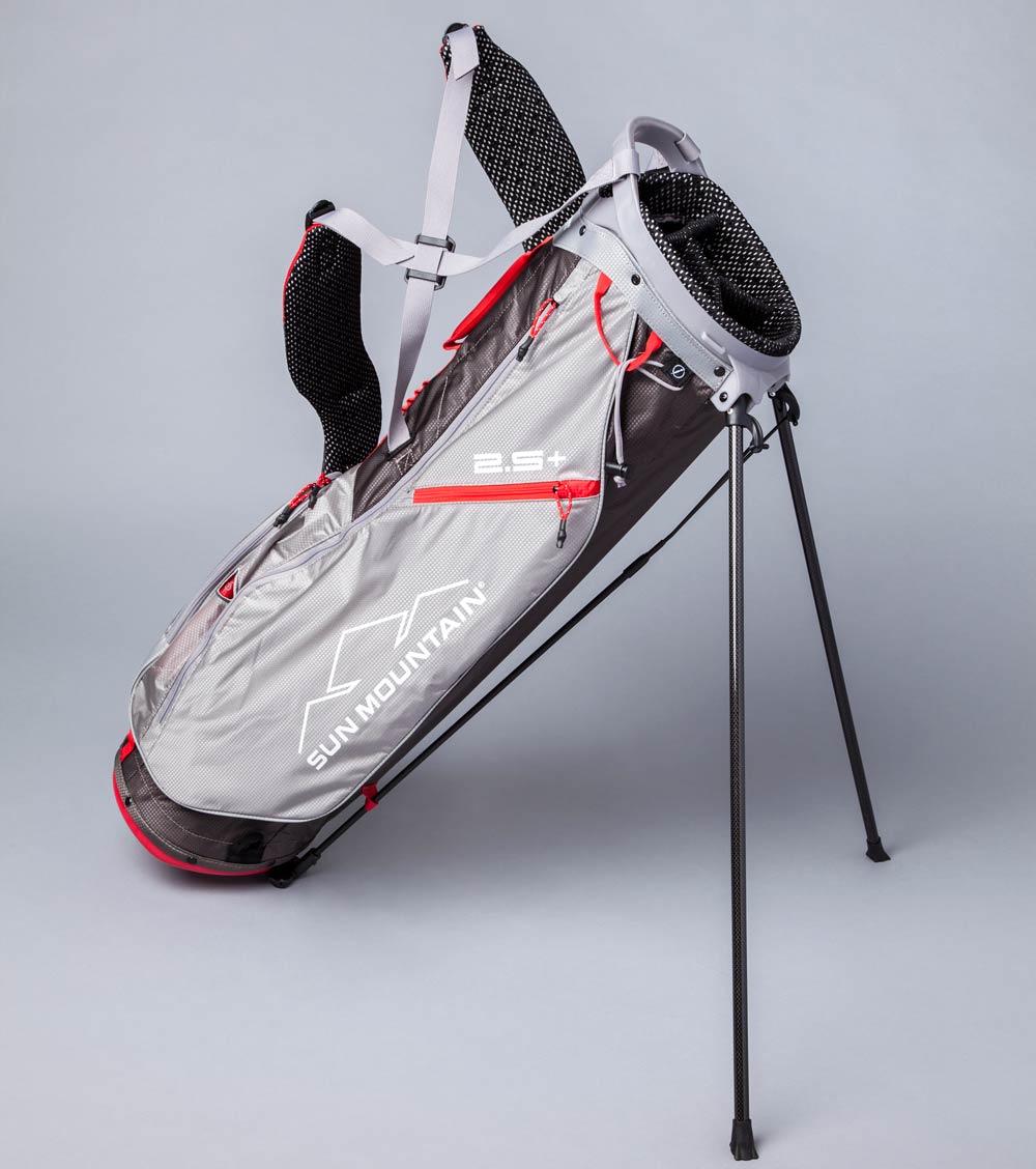The Sun Mountain 2.5+ golf bag.