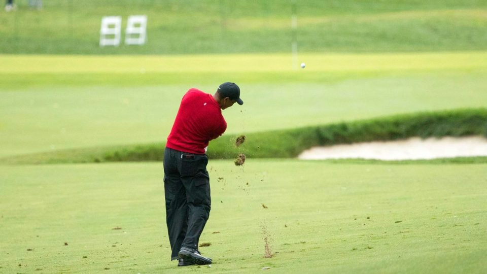 Tiger Woods during the final round of the 2018 BMW Championship.