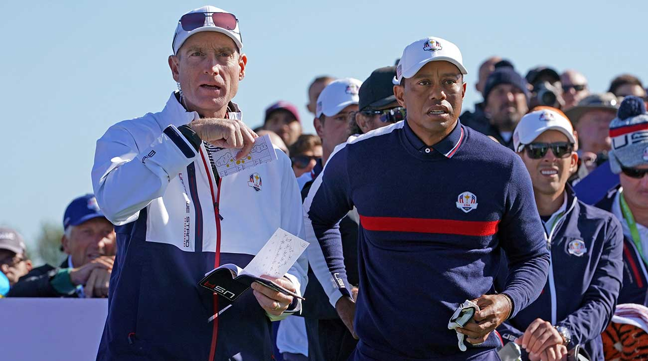 How much will captain Jim Furyk play Tiger Woods?