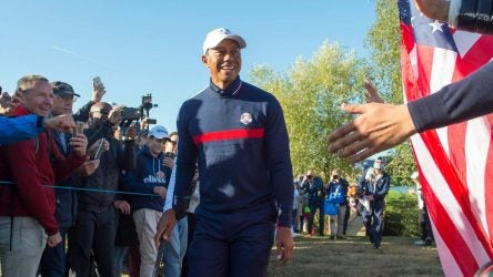 Tiger Woods was pranked at Ryder Cup by the U.S. team.