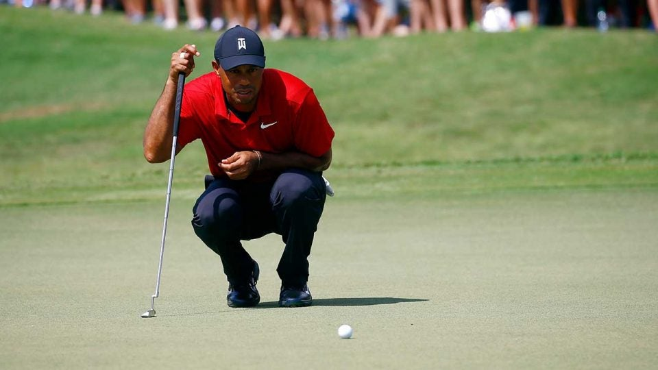 tiger woods sunday tour championship