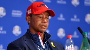 Woods capped a tough week with a Sunday singles loss.