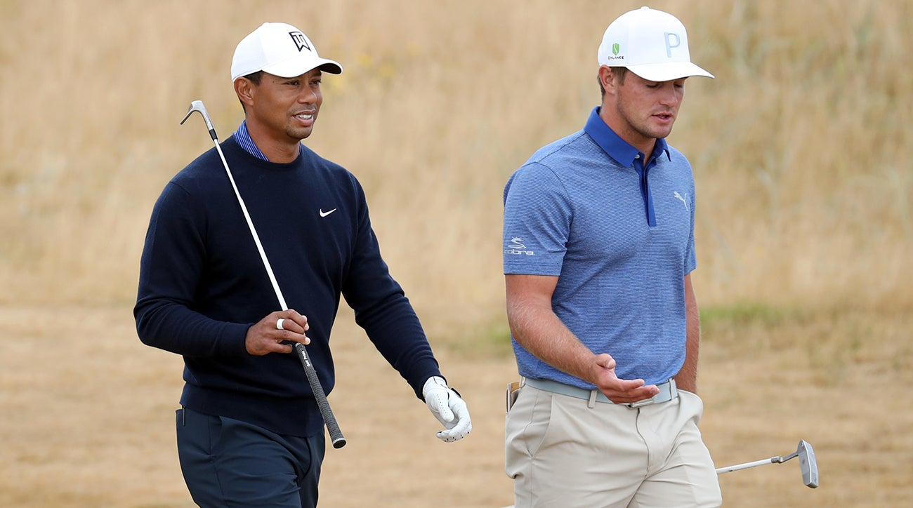 Woods and DeChambeau played a practice round at the British Open earlier this year.