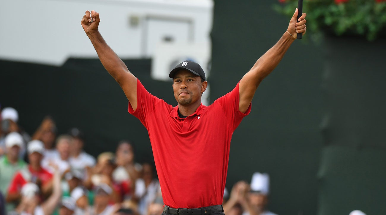 tiger woods wins tour championship for first victory since