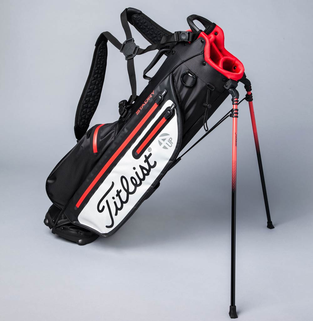 The Titleist Players 4up StayDry golf bag.