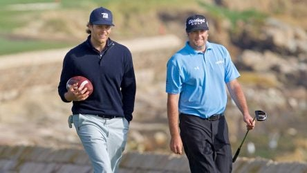 Tom Brady during the 2010 AT&T Pebble Beach Pro-Am at Pebble Beach.