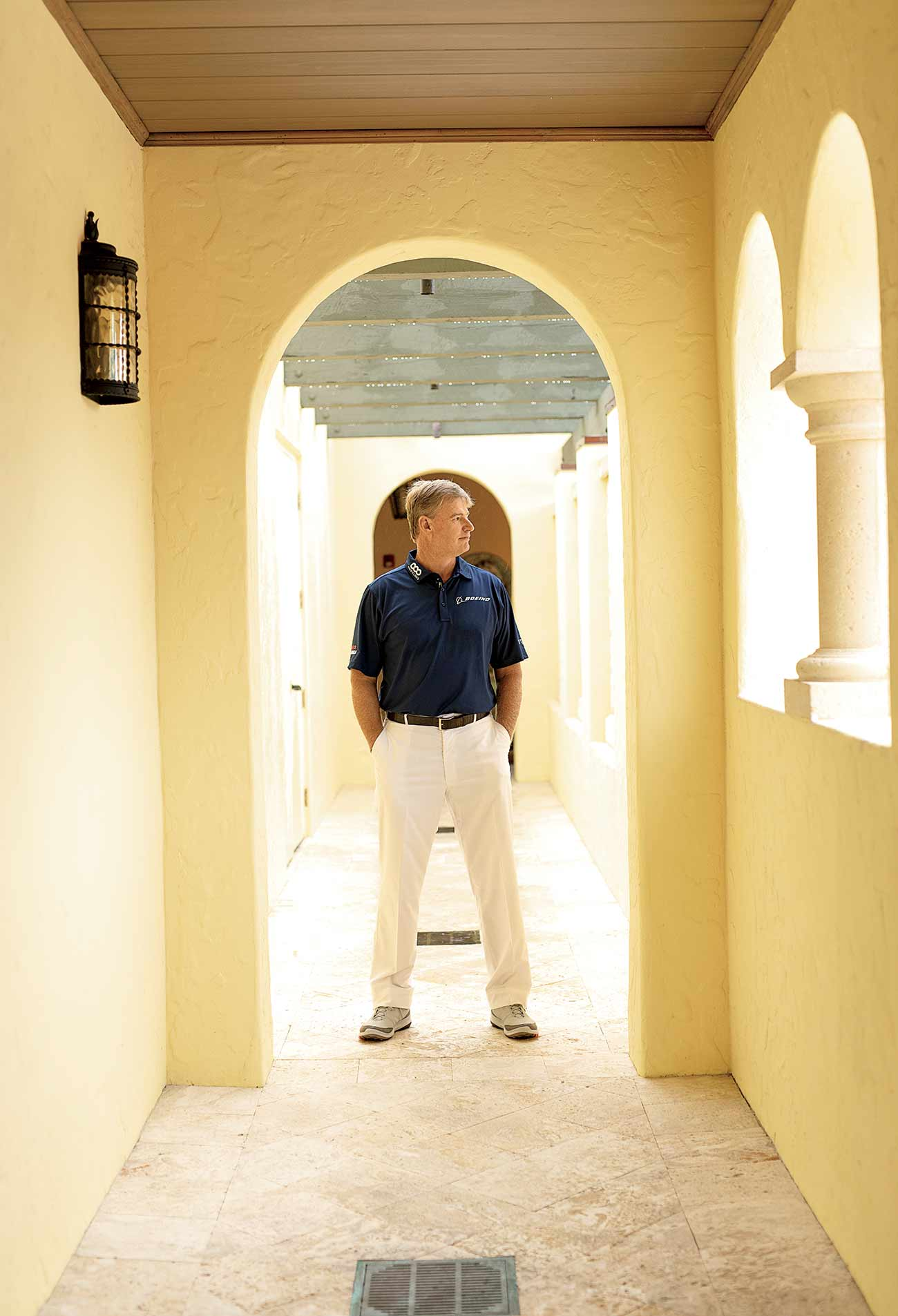 Ernie Els at his home