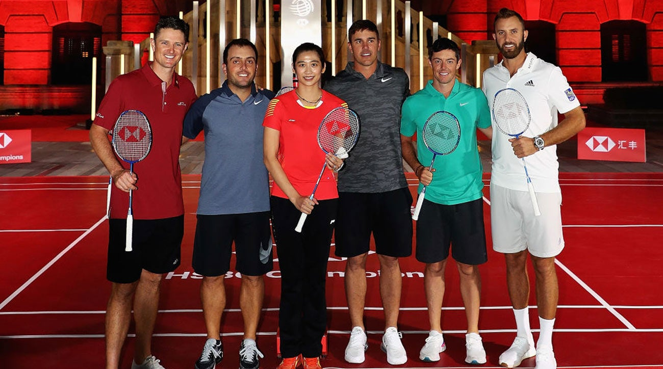 WGC-HSBC Champions badminton photoshoot