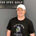 Former collegiate football player and mid-handicapper Graham Fisher poses at his True Spec club fitting.