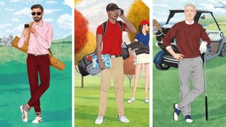 How to spend money on golf illustration.