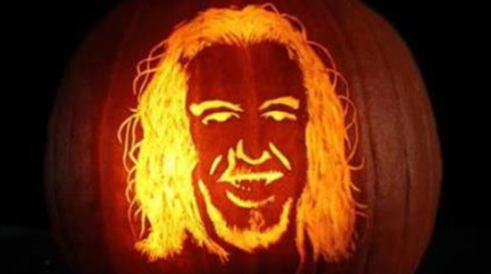 The Most Interesting Man in Golf, immortalized on a pumpkin.
