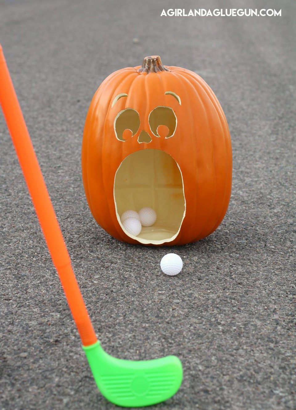 This fun carving idea doubles as a fun putting game.