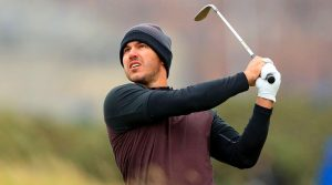 Brooks Koepka hits a shot at the Dunhill Links Championship. He's in the field this week at the CJ Cup.