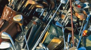 You wouldn't want to buy these used golf clubs, but a more modern set could work for you.