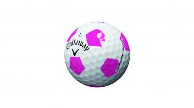 Callaway Chrome Soft Truvis ball in pink and white