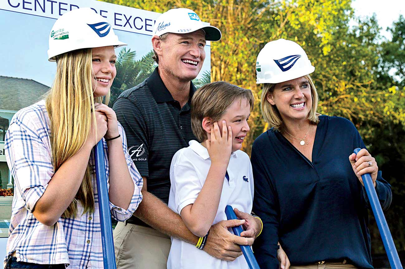 Ernie Els with his family.