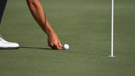 Some PGA Tour players will not always rush to mark their balls like in this photo.