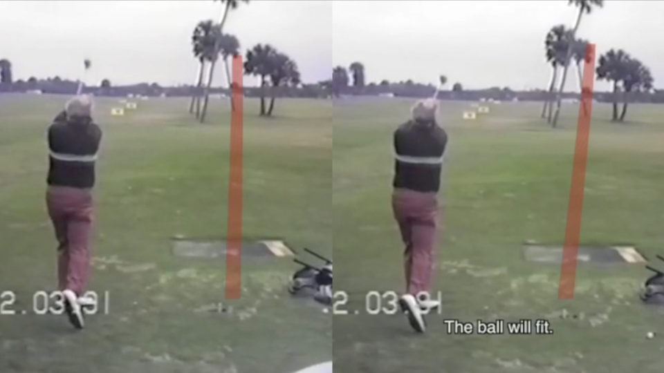 We plugged Moe Norman's swing into a shot tracer app  The