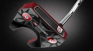You can see Odyssey's microhinge insert on this O-Works #7 putter.
