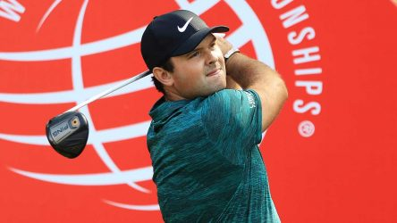 Patrick Reed watches his tee shot at the WGC HSBC Champions.