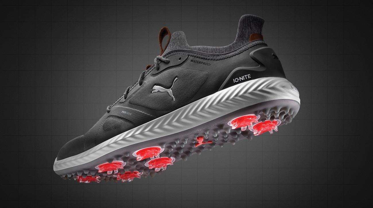 Puma's Ignite PWRADAPT golf shoes feature high-tech foam inserts.