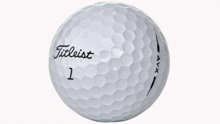 The Titleist AVX golf ball.