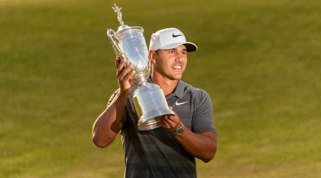 Brooks Koepka's now looking for three straight U.S. Open titles.