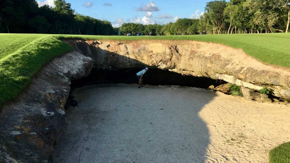 Mayakoba cave hole