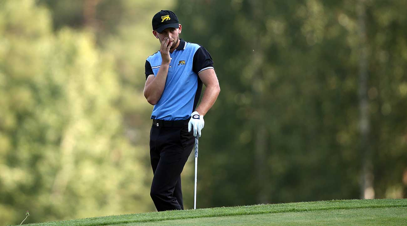 Gian-Marco Petrozzi was penalized two strokes after his final round.