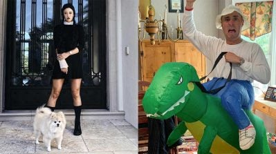 Michelle Wie and Justin Thomas dress up for Halloween.
