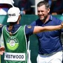 Lee Westwood hugs girlfriend and caddie Helen Storey after winning the Nedbank Golf Challenge on Sunday.