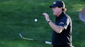Phil Mickelson stuck with an Odyssey prototype putter during The Match.