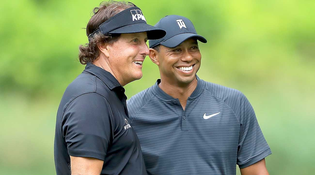World Golf Championships-Bridgestone Invitational - Preview Day 3, Tiger Woods, Phil Mickelson