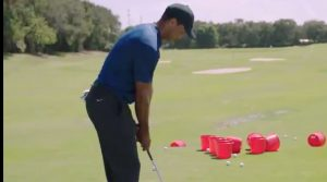 Tiger Woods Phil Mickelson The Match Golf Pong