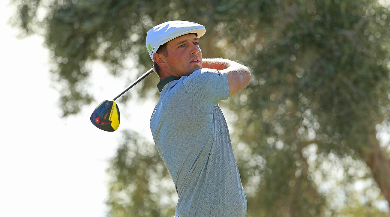 Bryson DeChambeau hits his new Cobra King F9 Speedback driver during his win at the 2018 Shriners Hospitals for Children Open.
