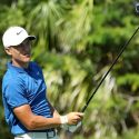 Cameron Champ hits a drive during the final round of the Mayakoba Golf Classic.