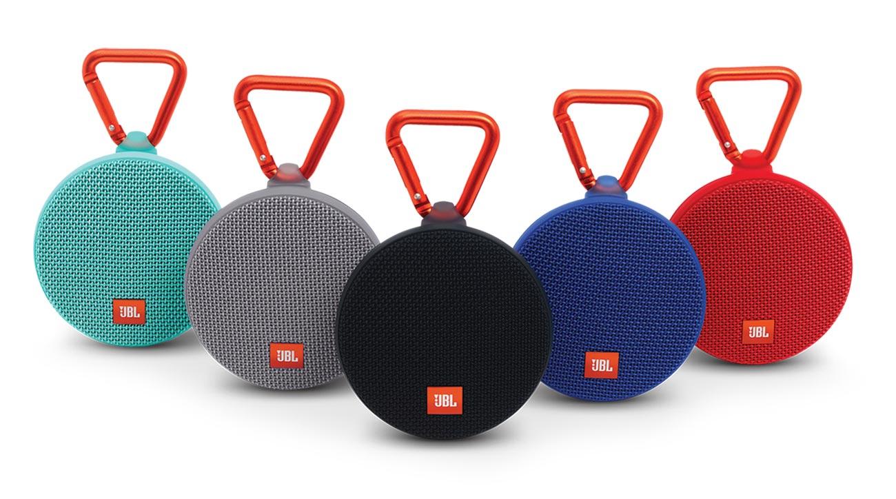 JBL Clip 2 speakers.