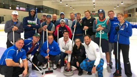 Jordan Spieth went curling before his wedding with Justin Thomas and Rickie Fowler.